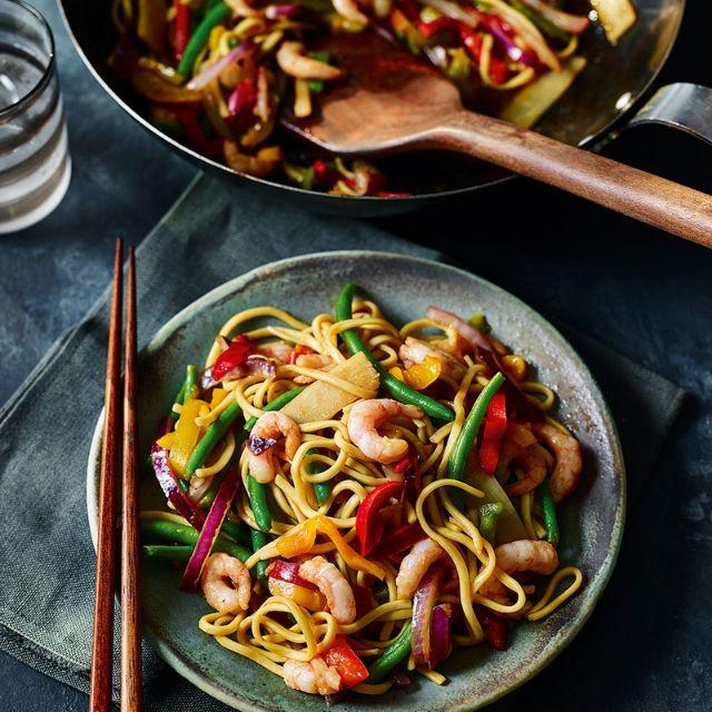 Prawn And Noodle Stir Fry