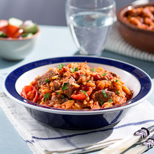 Greek Beef Stew With Orzo Pasta Slimming World