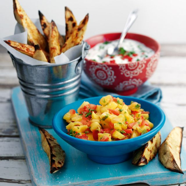 Spicy Sweet Potato Wedges And Dips