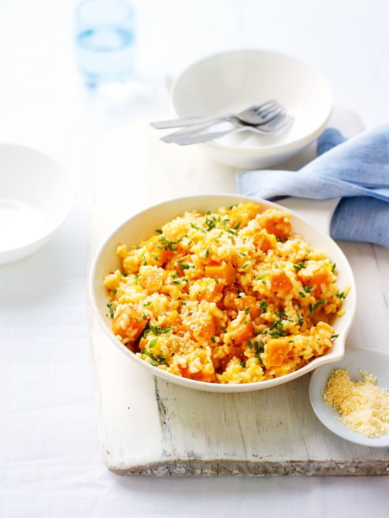 Roasted butternut squash and summer herb risotto