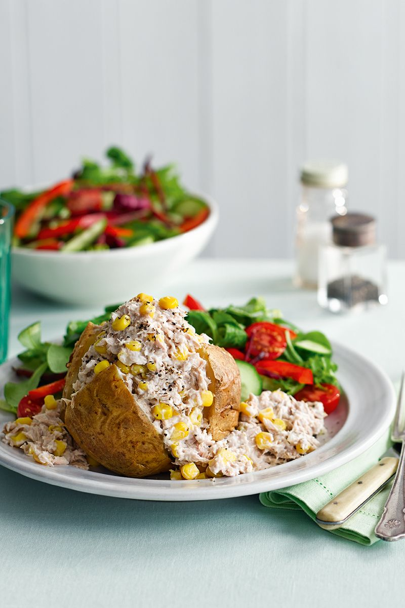 Tuna and sweetcorn jacket potato